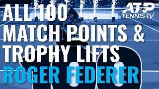 Roger Federer's 100 Titles: Championship Points & Trophy Lifts!