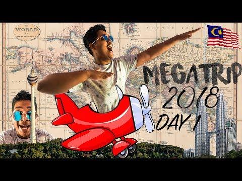 Day 1 (VLOG) - MEGATRIP 2018   ||  Malaysia - Kuala Lumpur Tower , Twin Towers