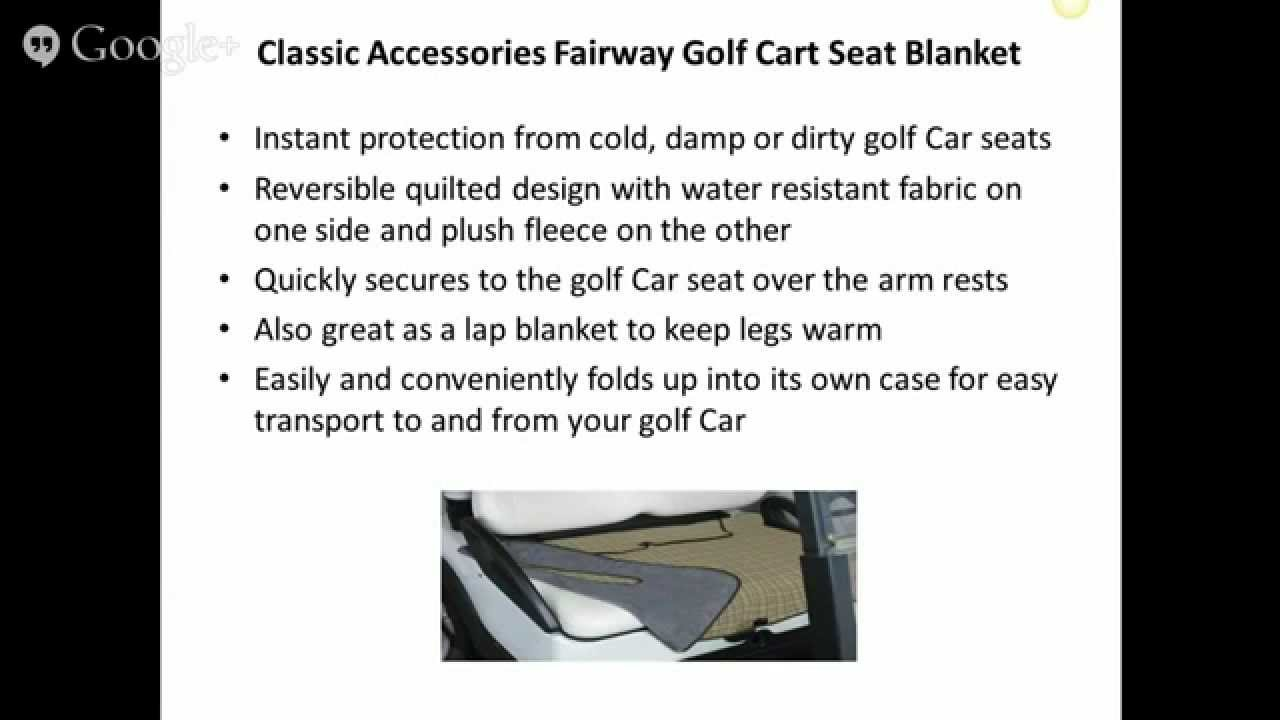 The golf cart seat blanket youtube the golf cart seat blanket jeuxipadfo Choice Image
