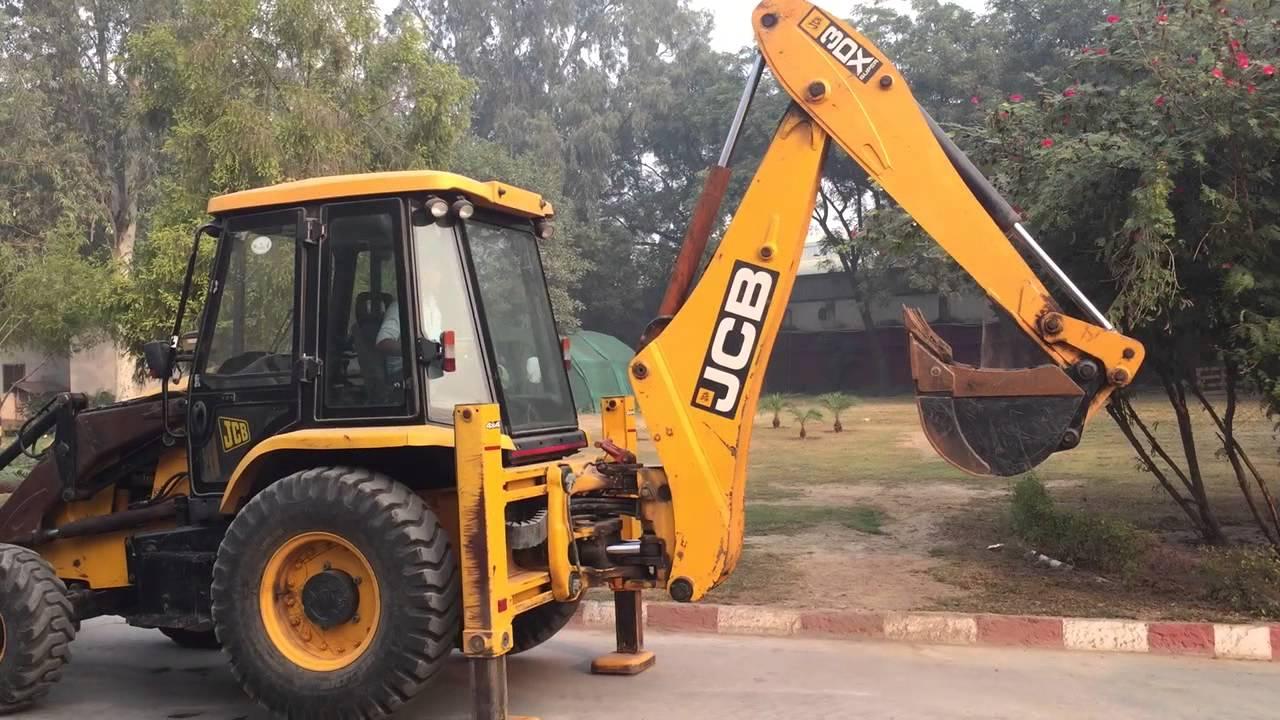 JCB India Auction Lot 37 JCB 3DX Backhoe - YouTube
