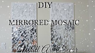 DIY MIRROR MOSAIC WALL ART PIER ONE INSPIRED | PETALISBLESS🌹
