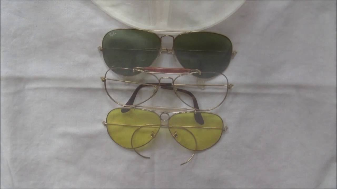 The Anatomy Of Vintage Ray-Ban Aviator Sunglasses - YouTube