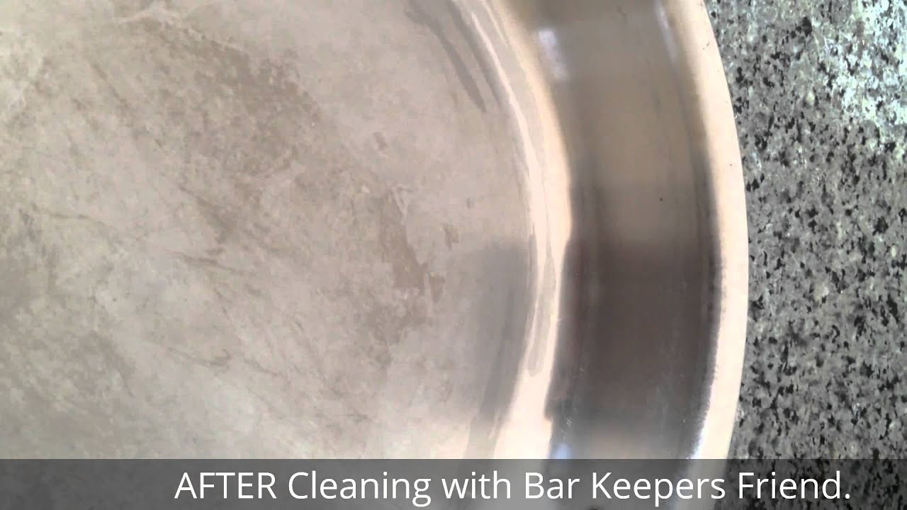 Before And After Cleaning All Clad Stainless Steel Pan With Bar