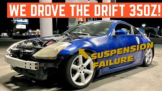 FIRST DRIVE In My $1,500 NISSAN 350z DRIFT Car *Doesn't Go Well*