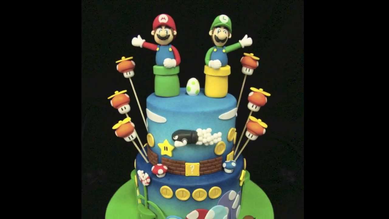 Mario Bros Birthday Cake Youtube
