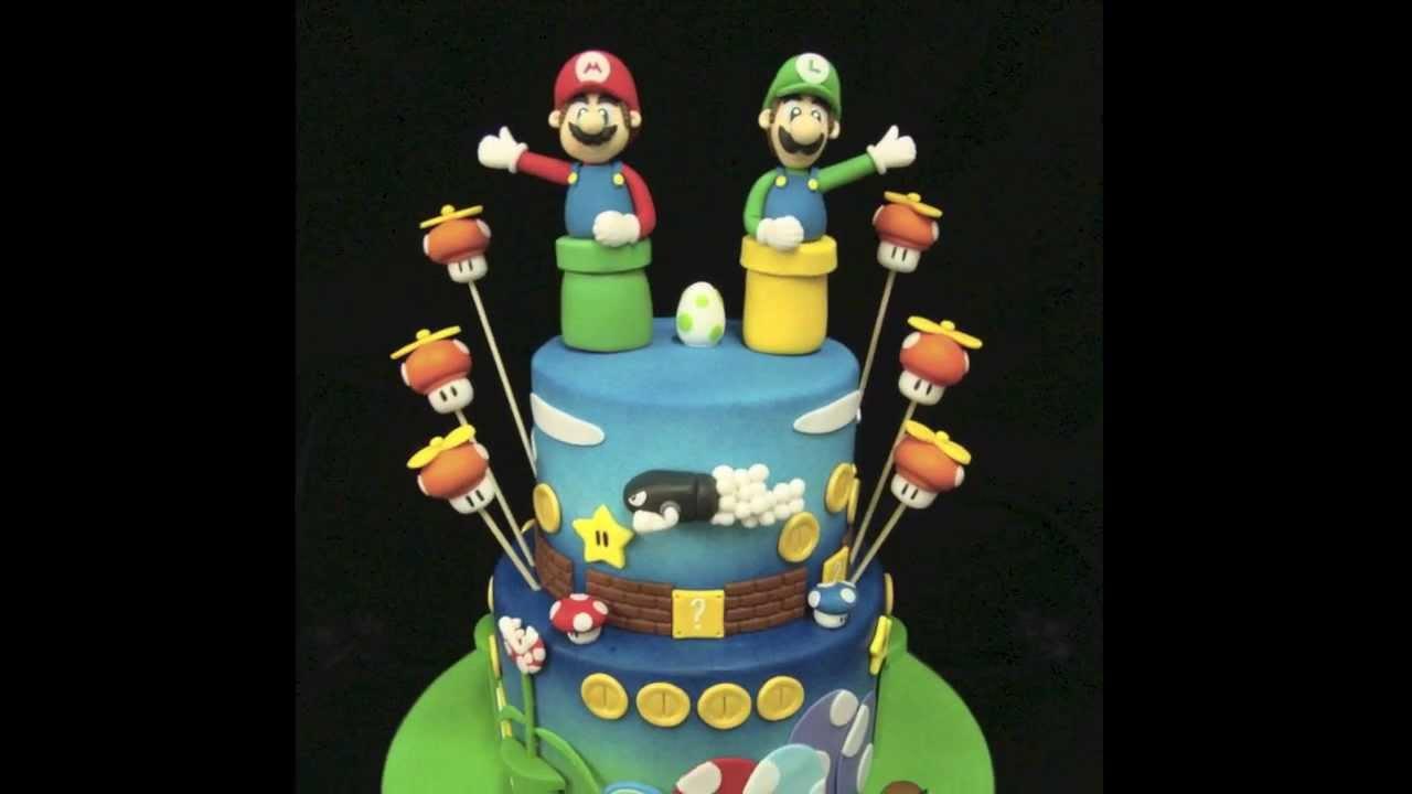 Mario Bros Birthday Cake Youtube