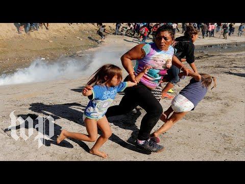Migrant caravan crisis escalates with tear gas at border fence