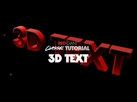 Classic Tutorial | 3D Text