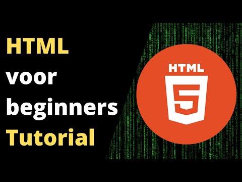 HTML TUTORIAL VOOR BEGINNERS   👉 Gratis HTML Cursus Om Websites Te Maken (Nederlands)