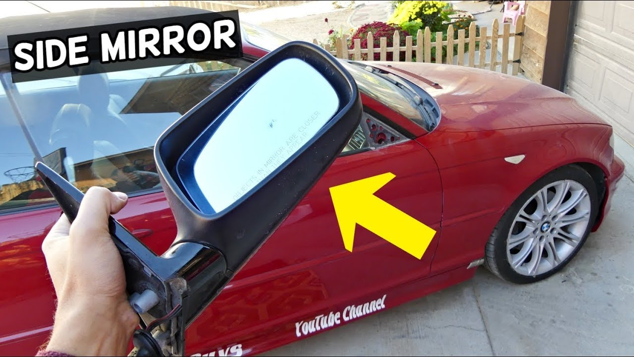 HOW TO REMOVE REPLACE SIDE VIEW MIRROR ON BMW E46 COUPE CONVERTIBLE