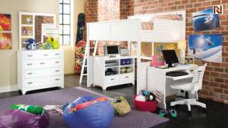 Lea 711-984r 4/6 Full Loft Bed From Freetime