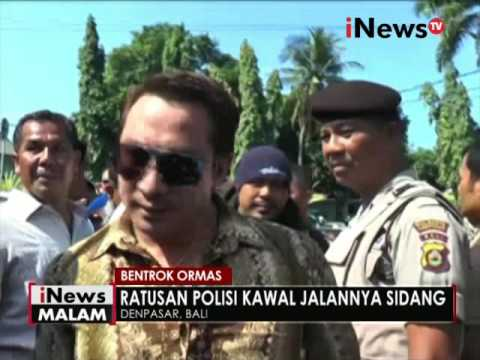 Ratusan Polisi kawal jalannya sidang antara 2 Ormas di Bali - iNews Malam 02/06