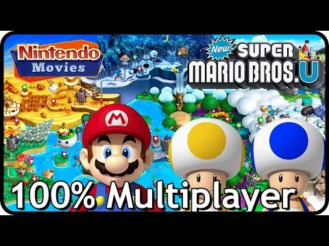 New Super Mario Bros. U (Deluxe) - Full Game (All Worlds, 100% Multiplayer Walkthrough)