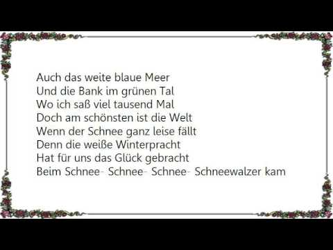 Heino - Schneewalzer Lyrics