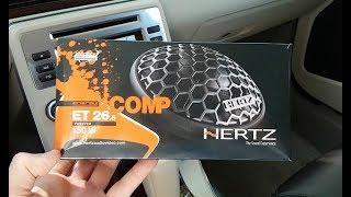 установка Hertz твитеров в задние двери на Volvo