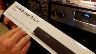 Unboxing: LG 4K Ultra-HD Blu-Ray Player UBK80, $99, HDR10, 3D, Bluray/DVD disk