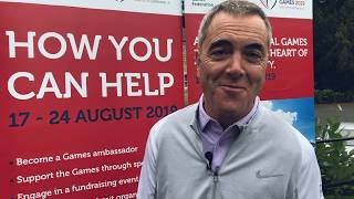 James Nesbitt promoting The World Transplant Games 2019