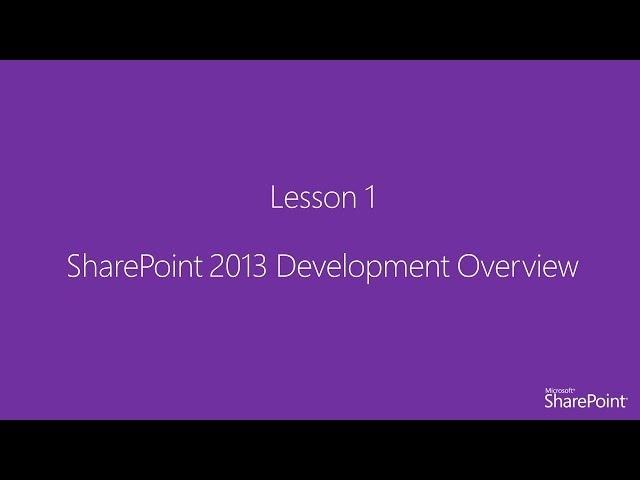 [Arabic] SharePoint 2013 Development Fundamentals Course