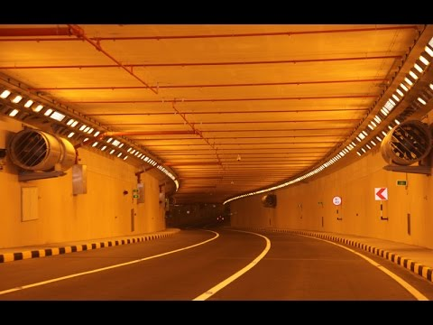 Driving through the Sheikh Khalifa Highway Tunnel in Abu Dhabi