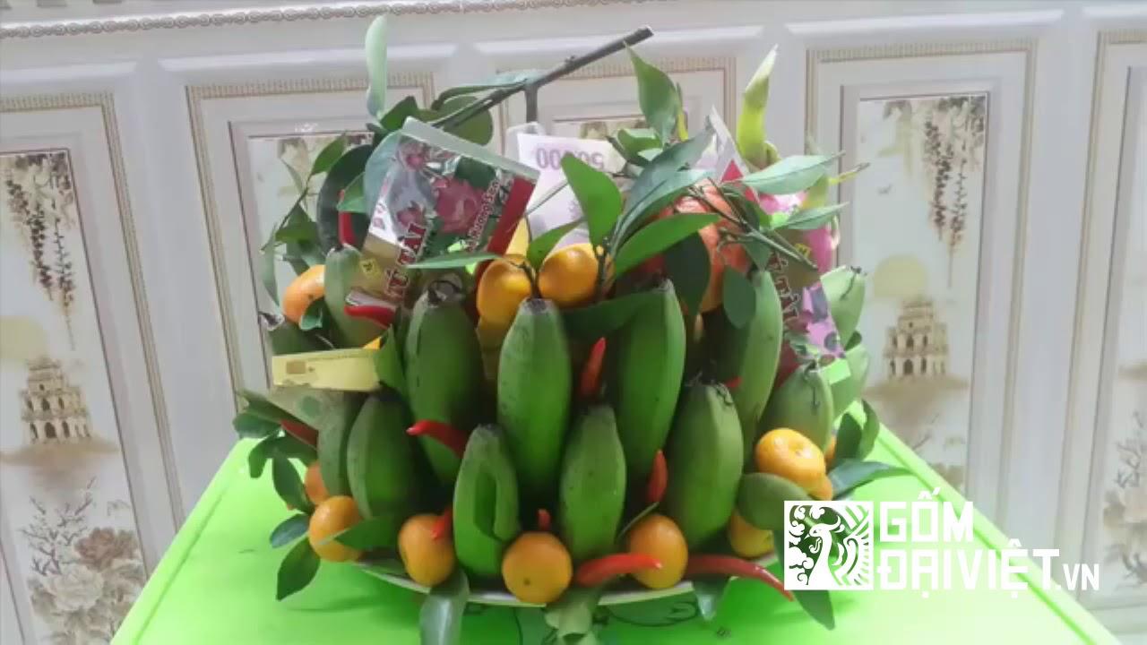 Hướng dẫn cách sắp xếp mâm ngũ quả bàn thờ gia tiên – Gốm Đại Việt