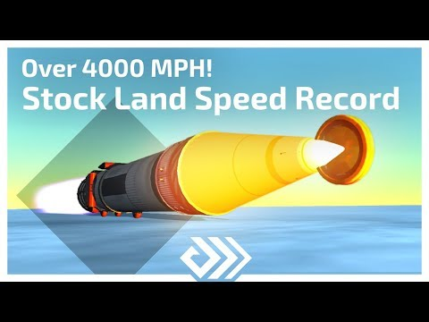KSP STOCK Land Speed Record - 1808 m/s - Over 4000 MPH!