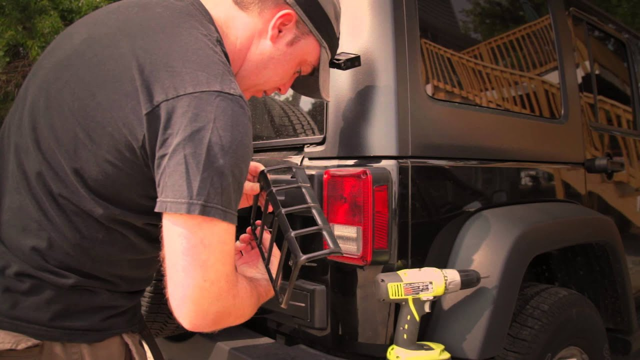How To Install Rugged Ridge Taillight Guards   YouTube