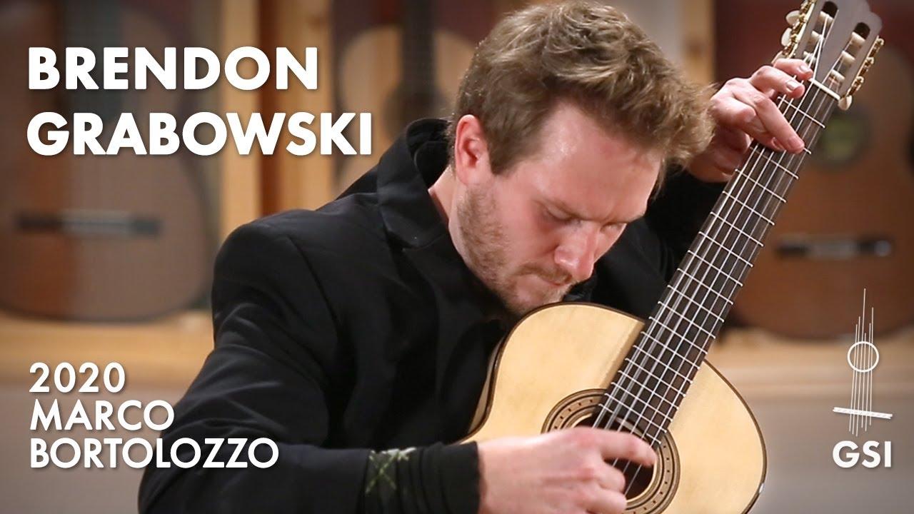 """Brouwer's """"Sonata Del Caminante: III. Danza Festiva"""" by Brendon Grabowski on a 2020 Marco Bortolozzo"""