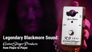 GuitarSlinger Effects - RB1011 SILVER EDITION MKII Booster Pedal Boutique Effect Booster Blackmore