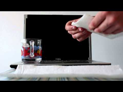 How to clean the screen on a laptop computer