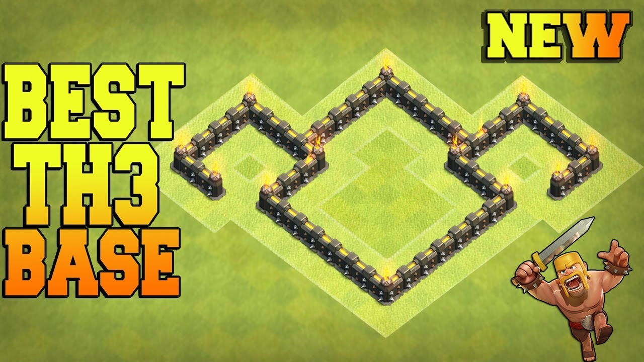 New Best Town Hall 3  Th3  Base Trophy Base    Farming Base