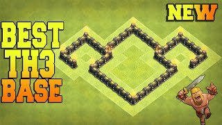 New Best TOWN HALL 3 (TH3) BASE ✅ Trophy Base / Farming Base / War Base - Clash of Clans