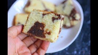 ഒര കകക രണട രച  Vanilla Chocolate Cake Recipe Marble Cake  Anu&#39s Kitchen