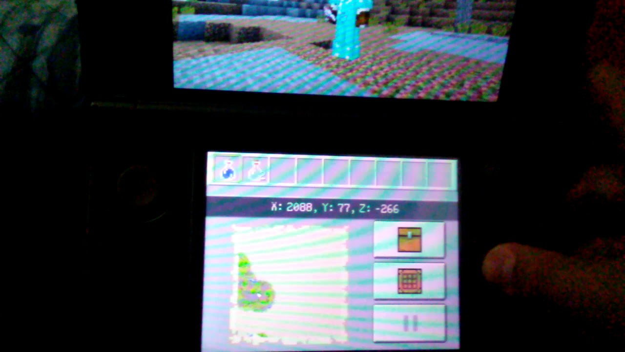 Tutorial On Controls Of Nintendo 3ds Minecraft Youtube