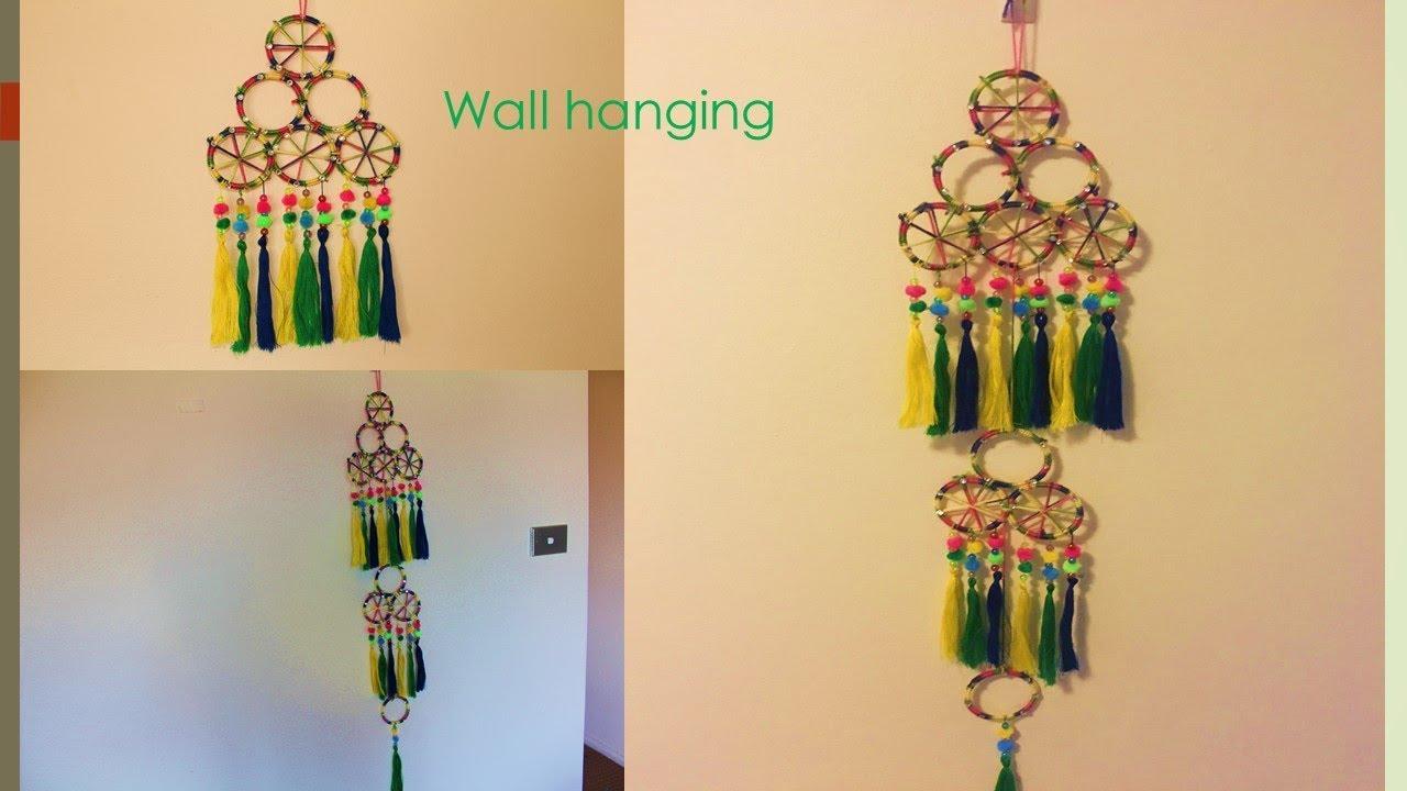wall hanging from bangles///diy wall hanging with bangles //diwali ...
