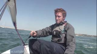 How to Tack (turning around) a one person small sailboat