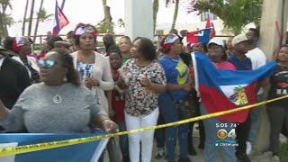 Haitians Protest Outside Mar-a-Lago Over Trump's 'S***hole' Comment