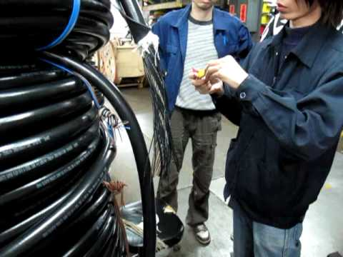 2010.02.04 Fujitec Travelling Cable assembly training [ PART 1 ]