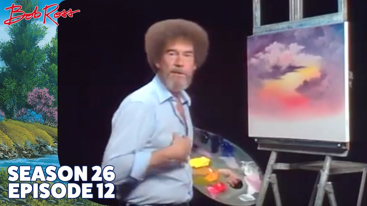 Bob Ross Sunset Aglow Season 26 Episode 12 Youtube