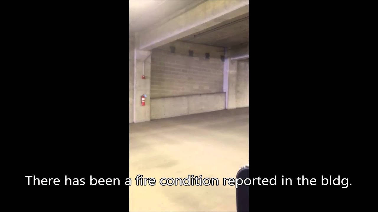 Fire alarm  in a parking garage   youtube