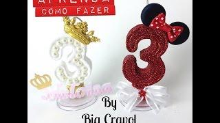 Como fazer Velas Personalizadas – Vela da Minie – Vela de Princesa – Bia Cravol