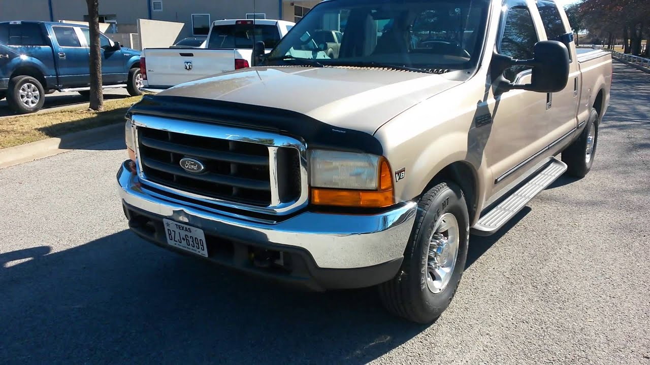 8995 1999 ford f250 lariat crew cab 7 3l power stock diesel