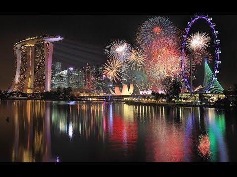 SINGAPORE FIREWORKS NEWYEAR 2019 (FULL HD) - Meriahnya Kembang Api di Singapura
