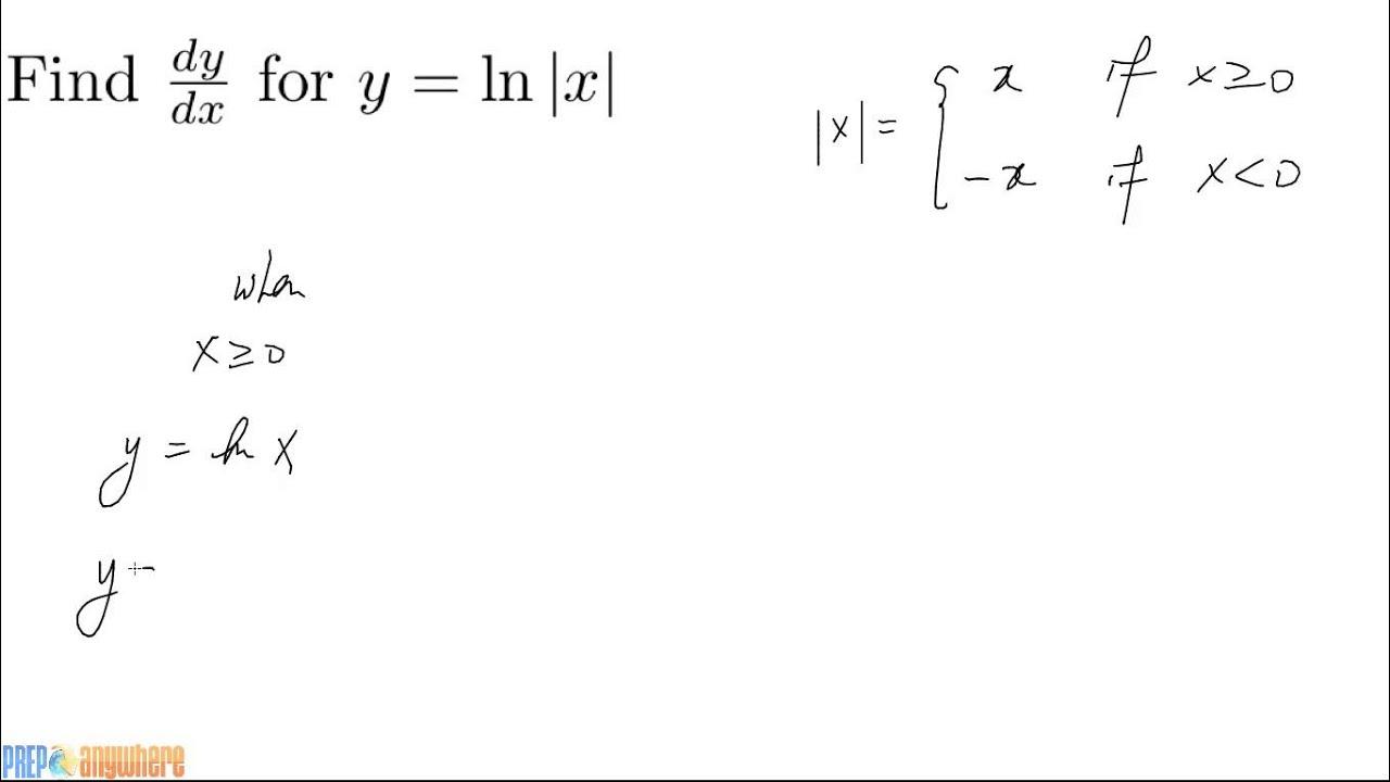 4 Derivative of ln|x| - YouTube