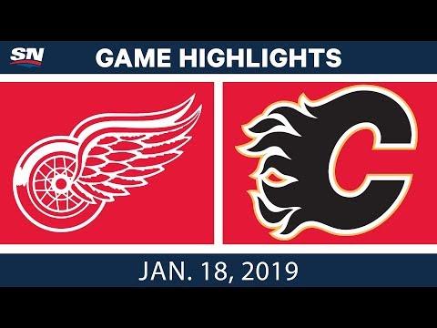 NHL Highlights | Red Wings vs. Flames - Jan. 18, 2019