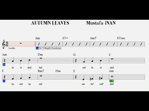 autumn-leaves--am--:trumpet,flute,guitar,keyboard,melodica,recorder,violin.
