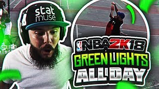 INSTANT GREEN LIGHTS!! NBA 2K18 MYPARK GAMEPLAY - I CANT MISS