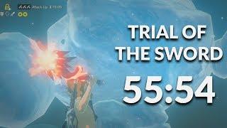 BotW Trial of the Sword Speedrun in 55:54