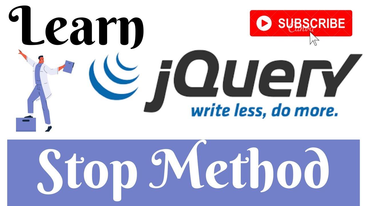 jQuery Lecture - 32 Stop Method Tutorial in Hindi / Urdu