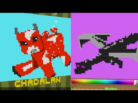 Minecraft / Minecraft themed  Pixel Painters / Dollastic Plays