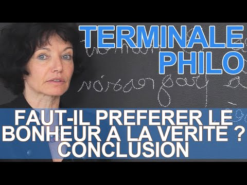 Dissertation de philosophie conclusion
